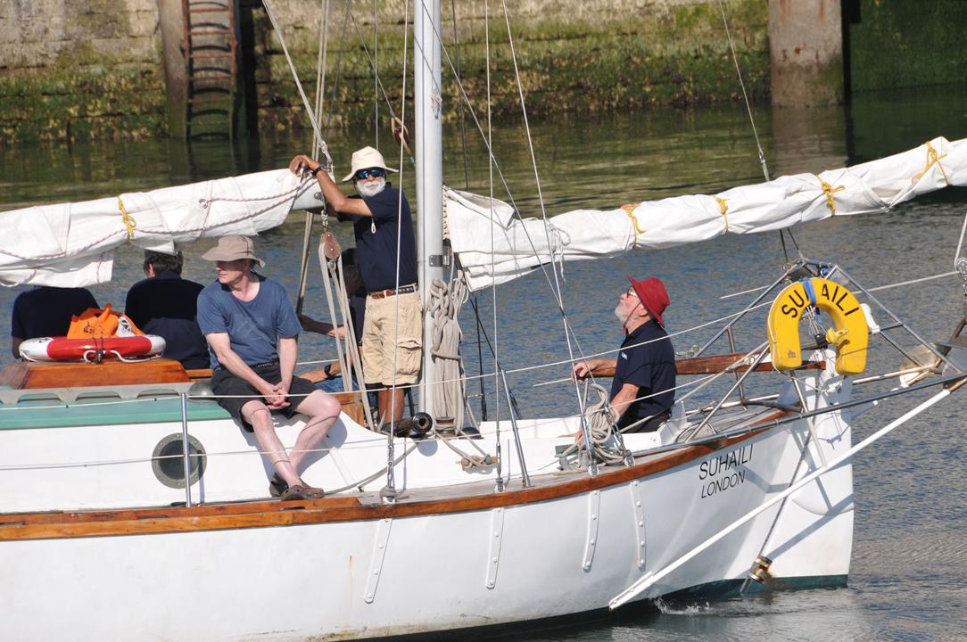 Sir Robin Knox-Johnston est à bord