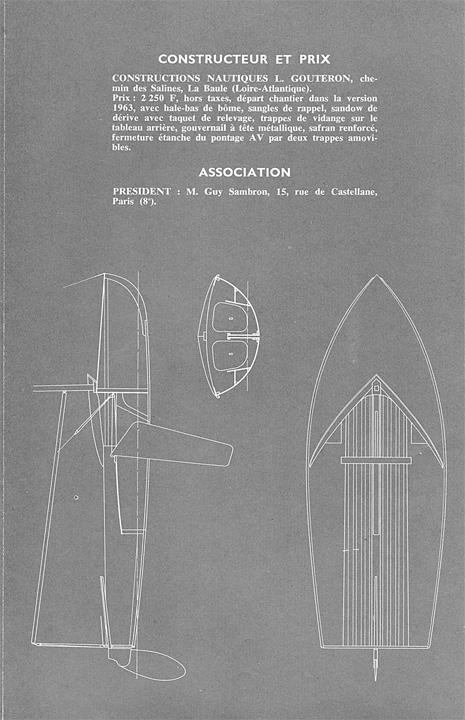 Simoun Junior, plan (Source revue Bateaux)