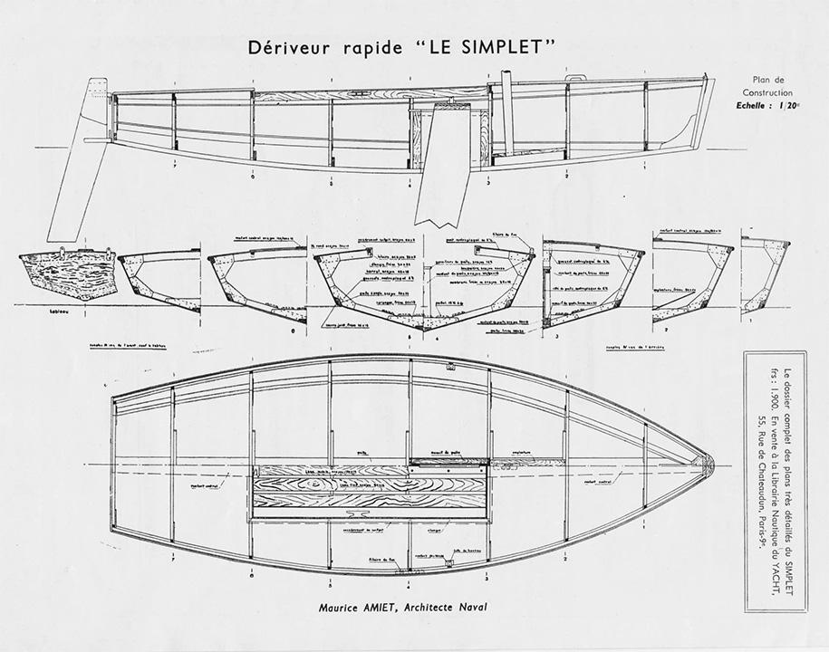 Plan du Simplet (Source Chantier Vandernotte)
