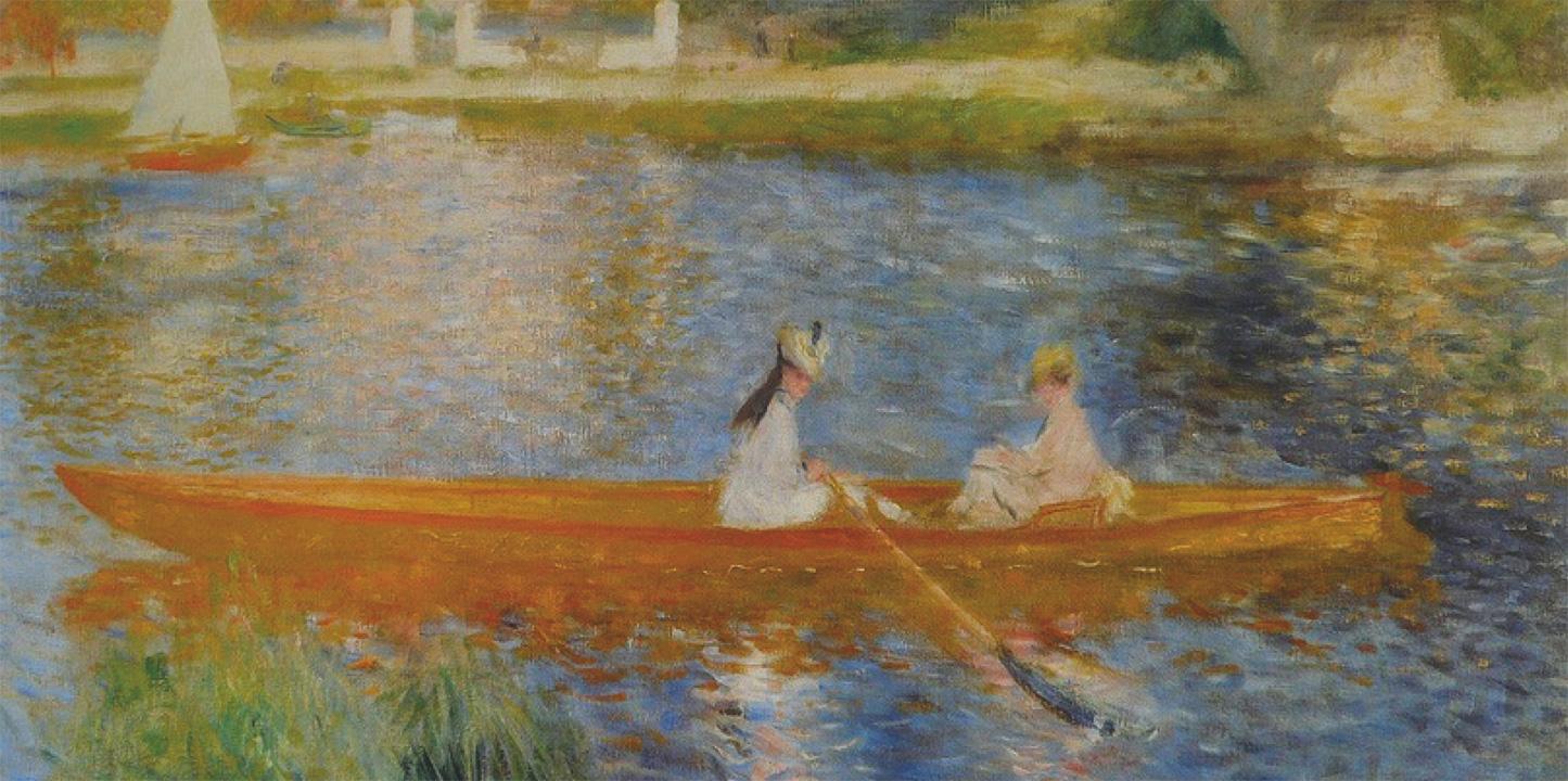 """Détail de """"La yole"""" de Pierre Auguste Renoir (National Gallery, Londres)"""