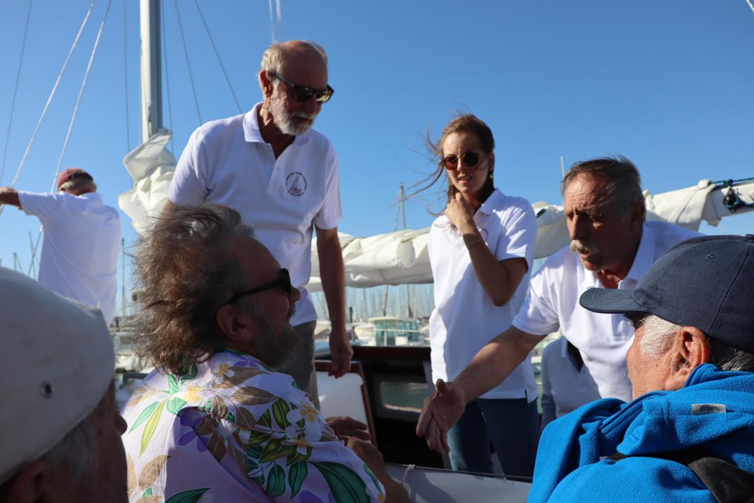 Antoine accueille nos valeureux navigateurs