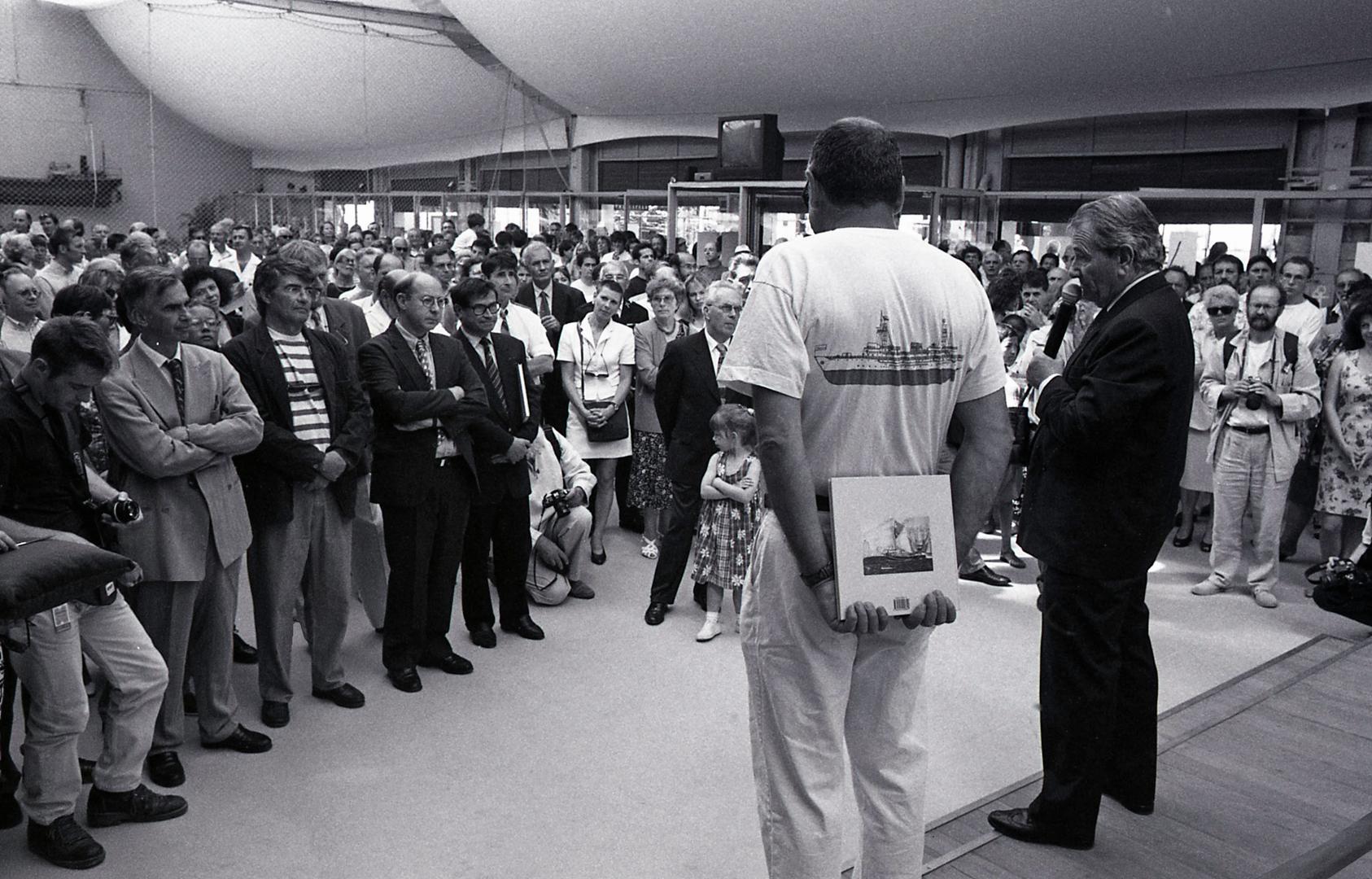 15 juin 1996, inauguration des espaces à terre du Musée Maritime (photo Guy Genty)