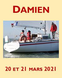 Enfin, Damien a commencé à naviguer