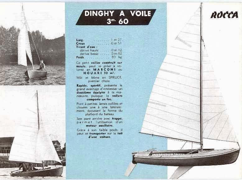 Documentation commerciale du Dinghy Rocca