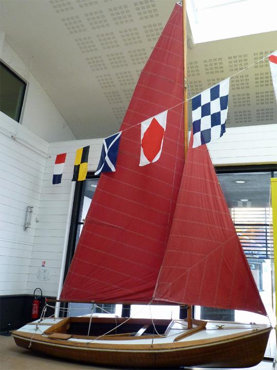 Dinghy Rocca Dervin au Musée Maritime de La Rochelle