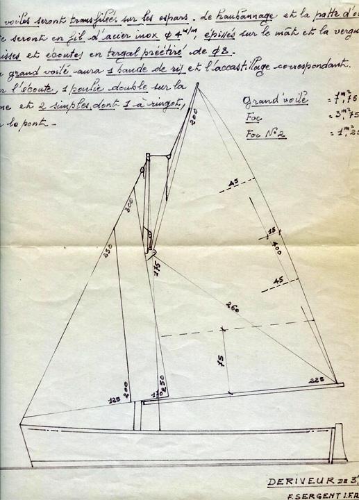 Plan du Dinghy Rocca