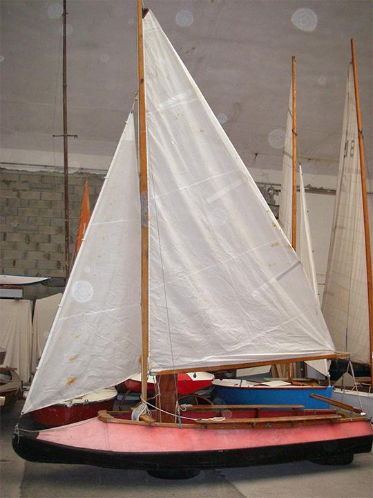Le canot Lapon dans l'atelier PPL