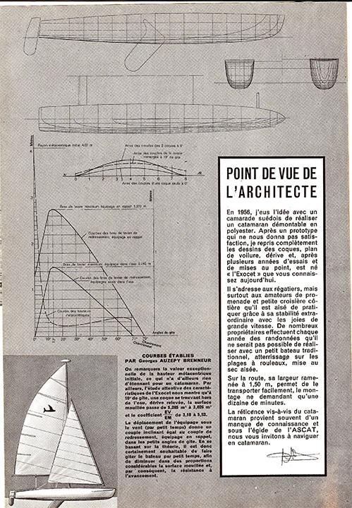 """Extrait d'article des """"Cahiers du Yachting"""""""