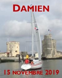 Première navigation de Damien sous voiles