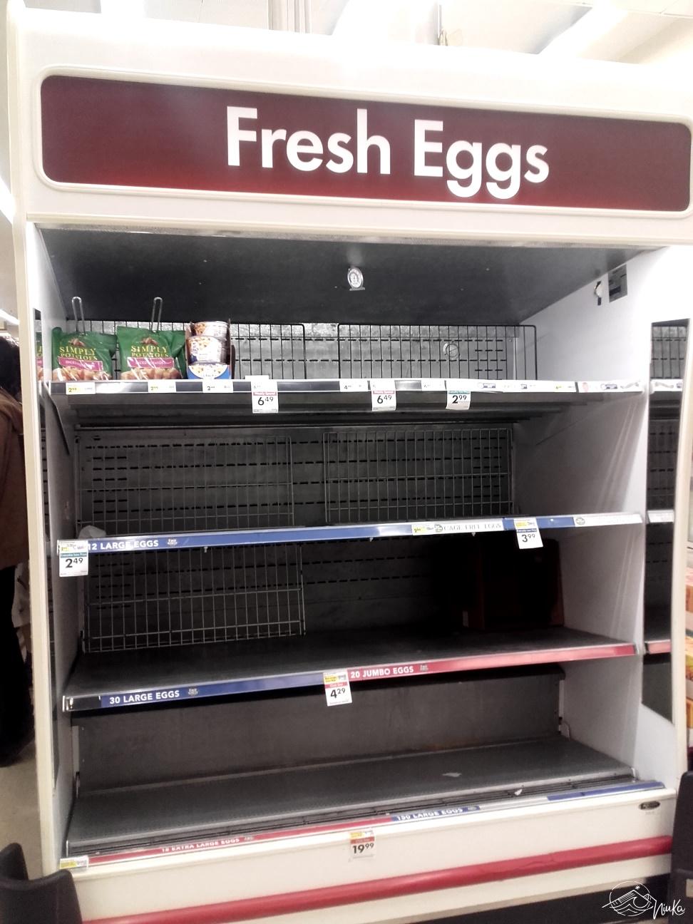 Neben Toilettenpapier und Co. nun auch Eier...