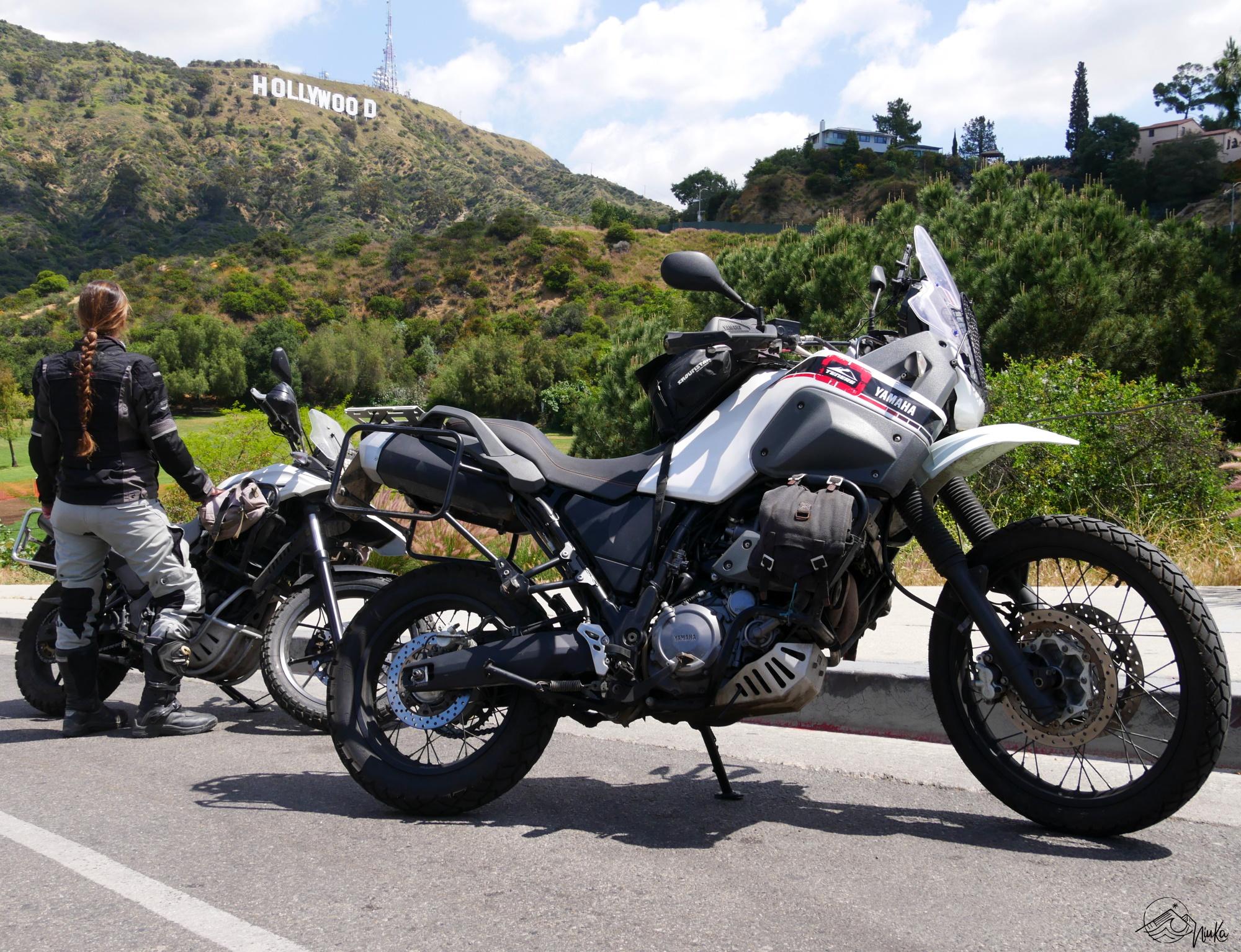 Mit den Motorrädern durch Hollywood