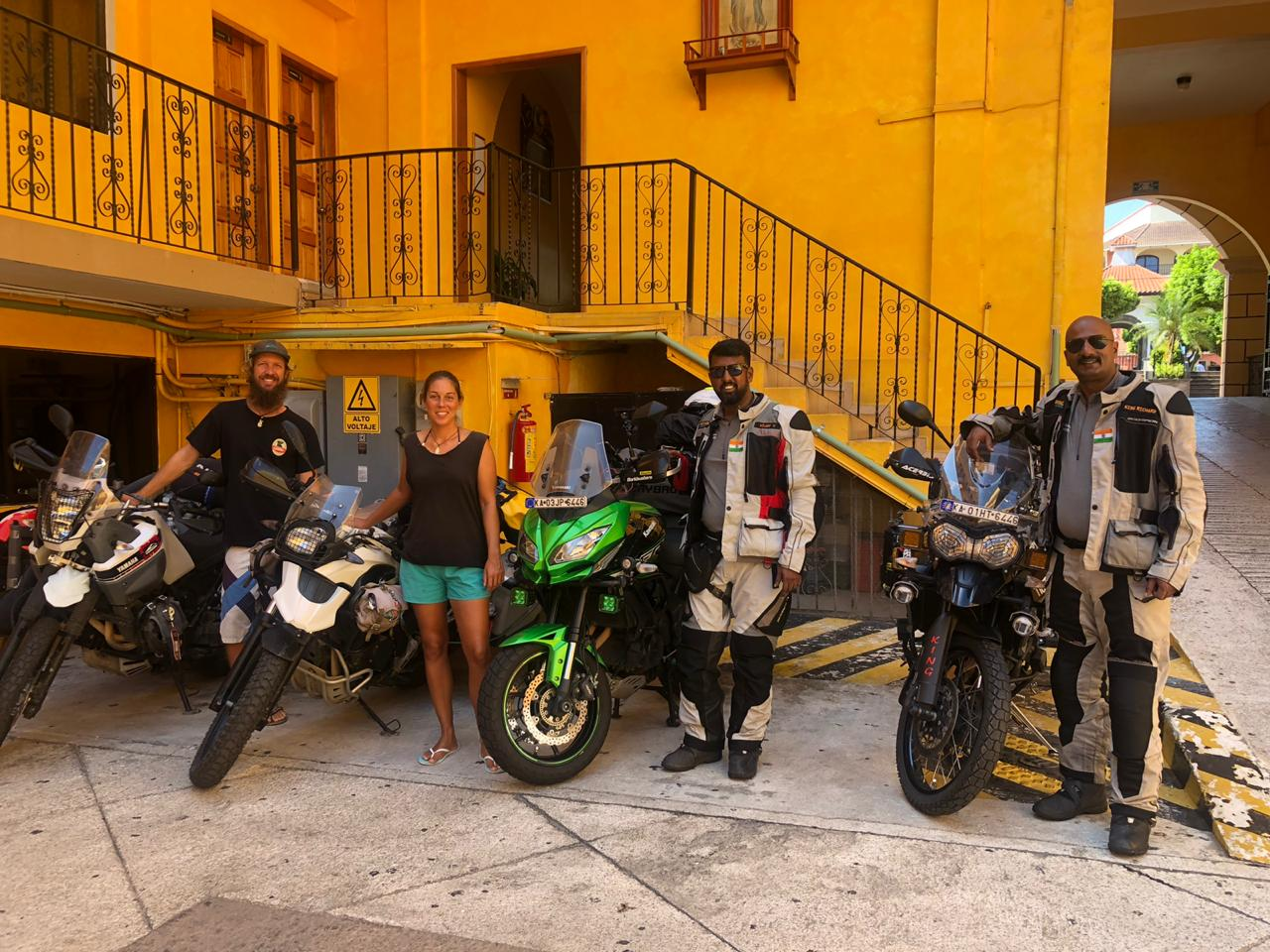 Meeting mototravelers from India