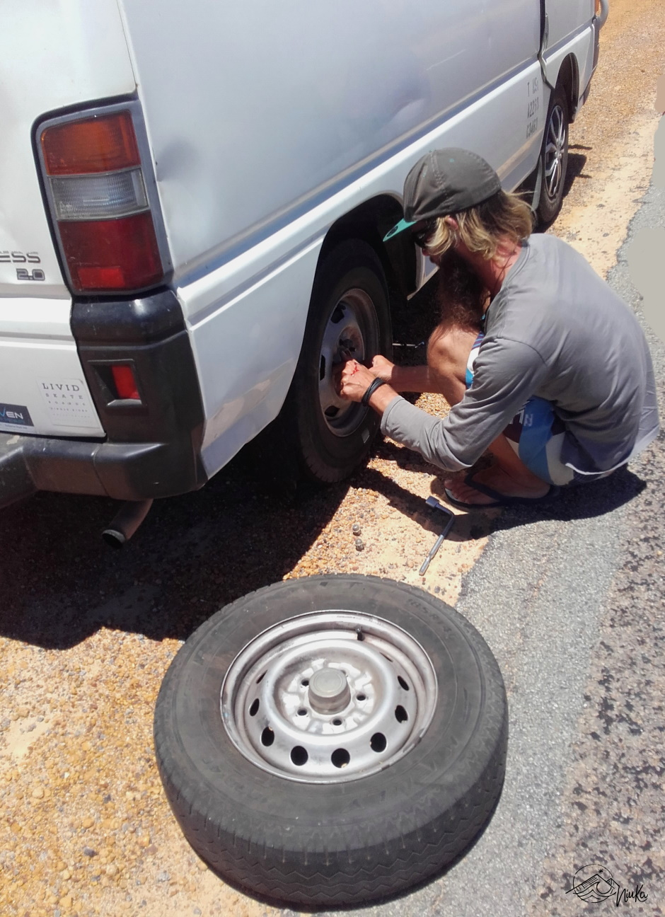 Puncture in the middle of nowhere