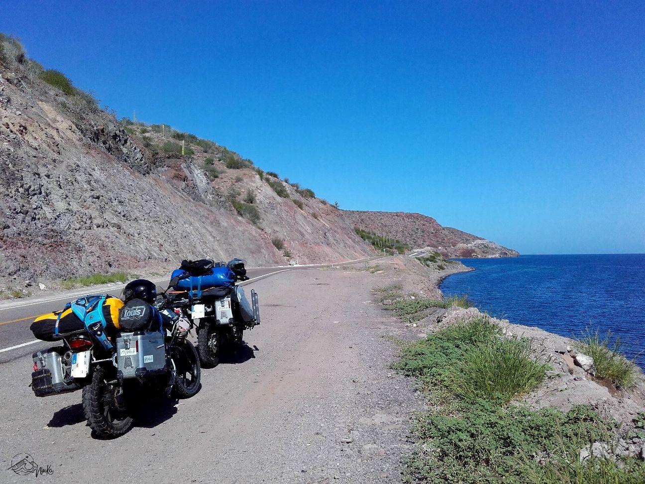 Fahrt entlang der Küstenstraße nach Mulegé