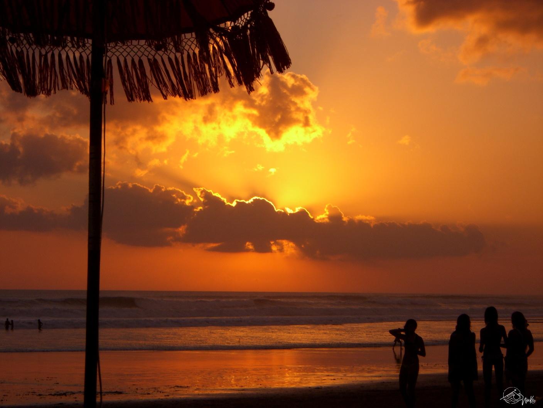 Sonnenuntergang in Kuta