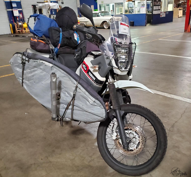 Verschiffung Yamaha Ténéré 660 ZA