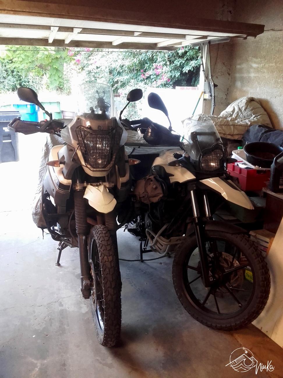 Storage of our motorbikes