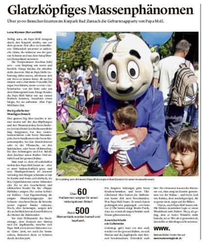 Auszug aus dem Badener Tagblatt vom 17.9.2019