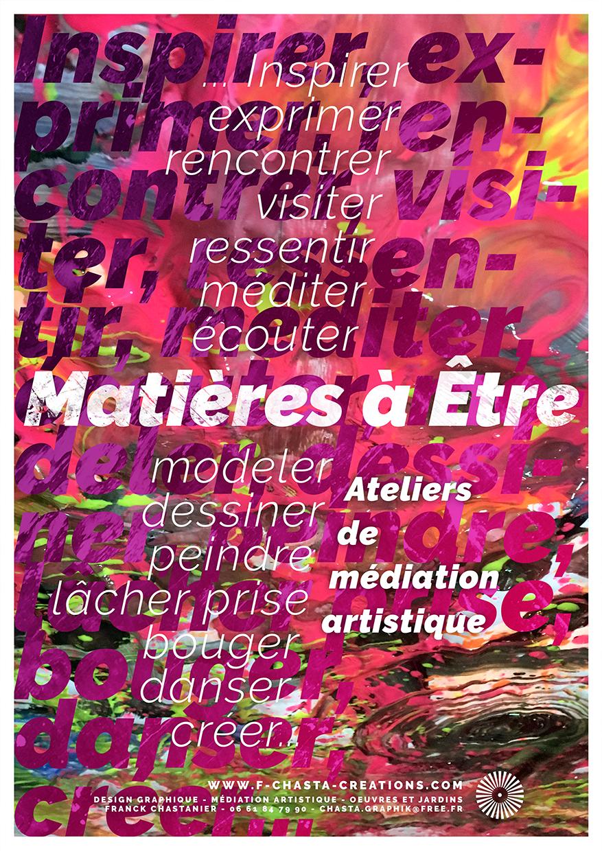 Affiche - Atelier de médiation artistique © Franck Chastanier 2019