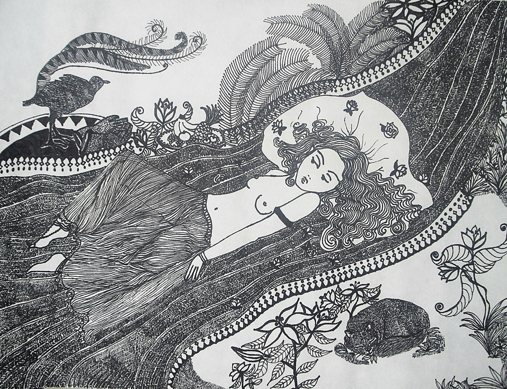 30 x 40 cm Tuschestift auf Papier 2010