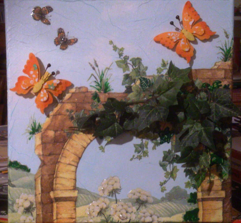 """""""Romantischer Bogen"""" - 30 x 30 cm, Art.-Nr. BRB022016"""