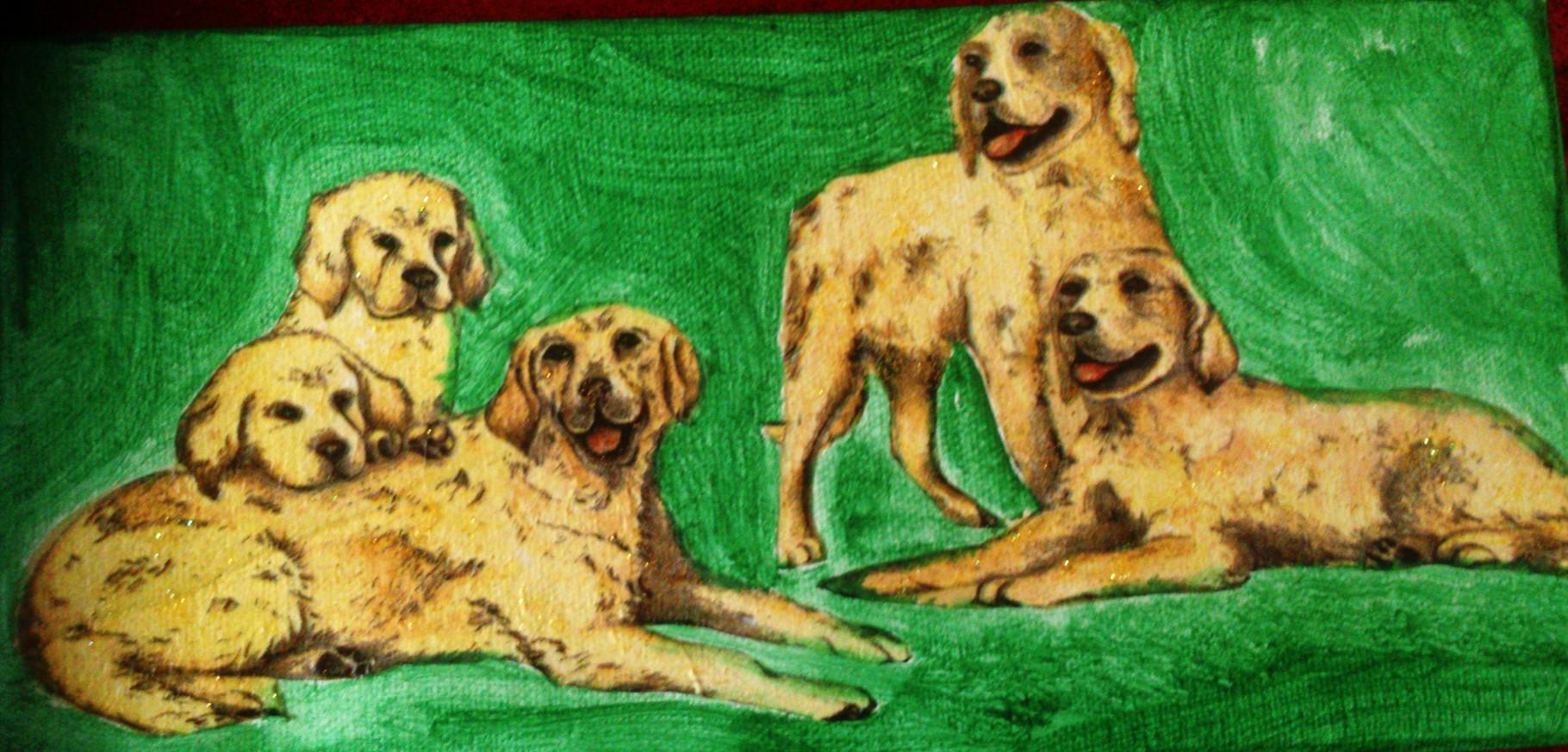 """""""Hundefamilie"""" - 15 x 30 cm, Art.-Nr. THF042016"""