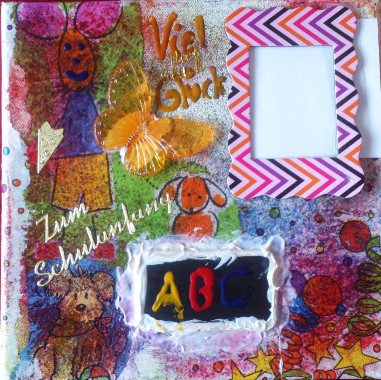 """Schulanfang ABC"" - 20 x 20 cm, Art.-Nr. ASA032016"