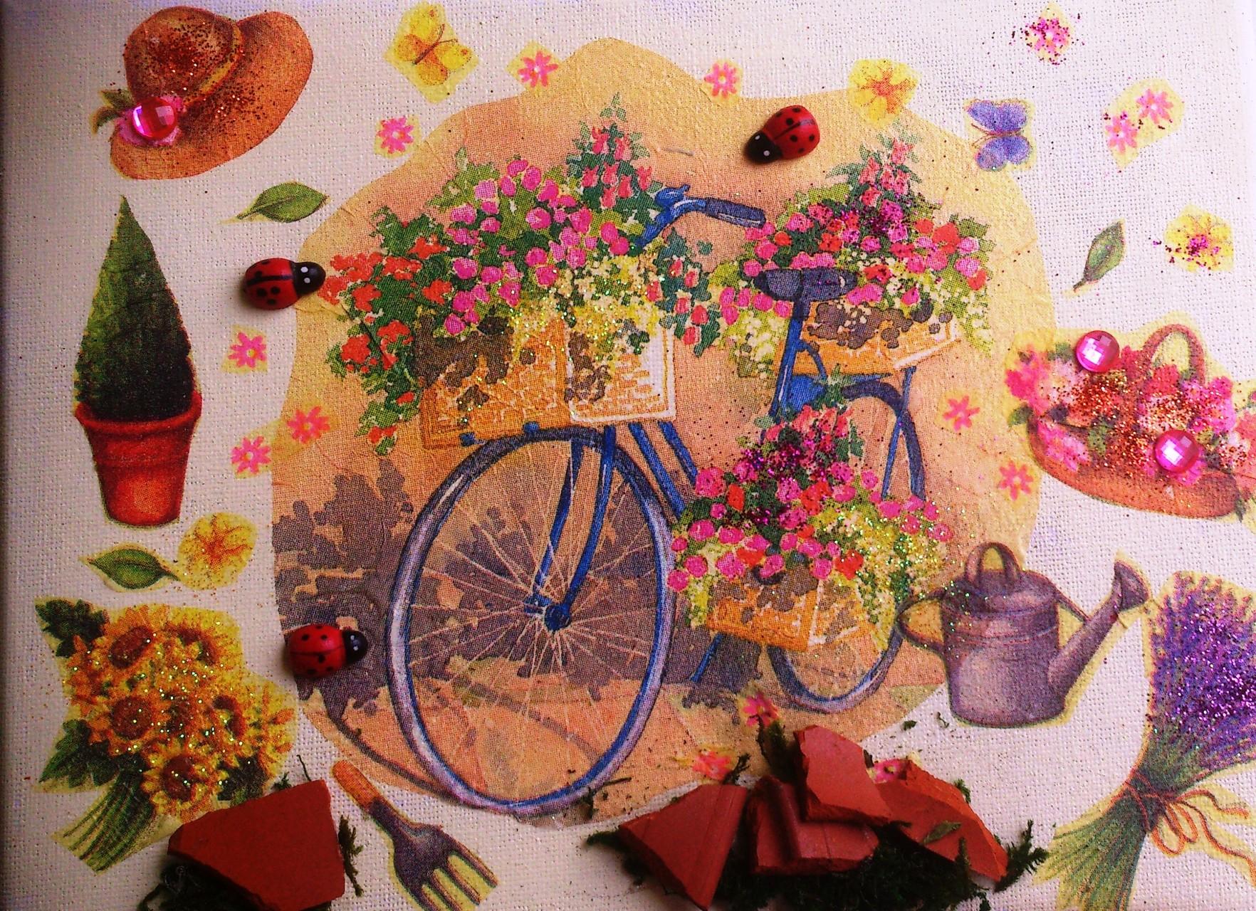 """""""Blaues Fahrrad"""" - 18 x 24 cm, Art.-Nr. BBF052016"""