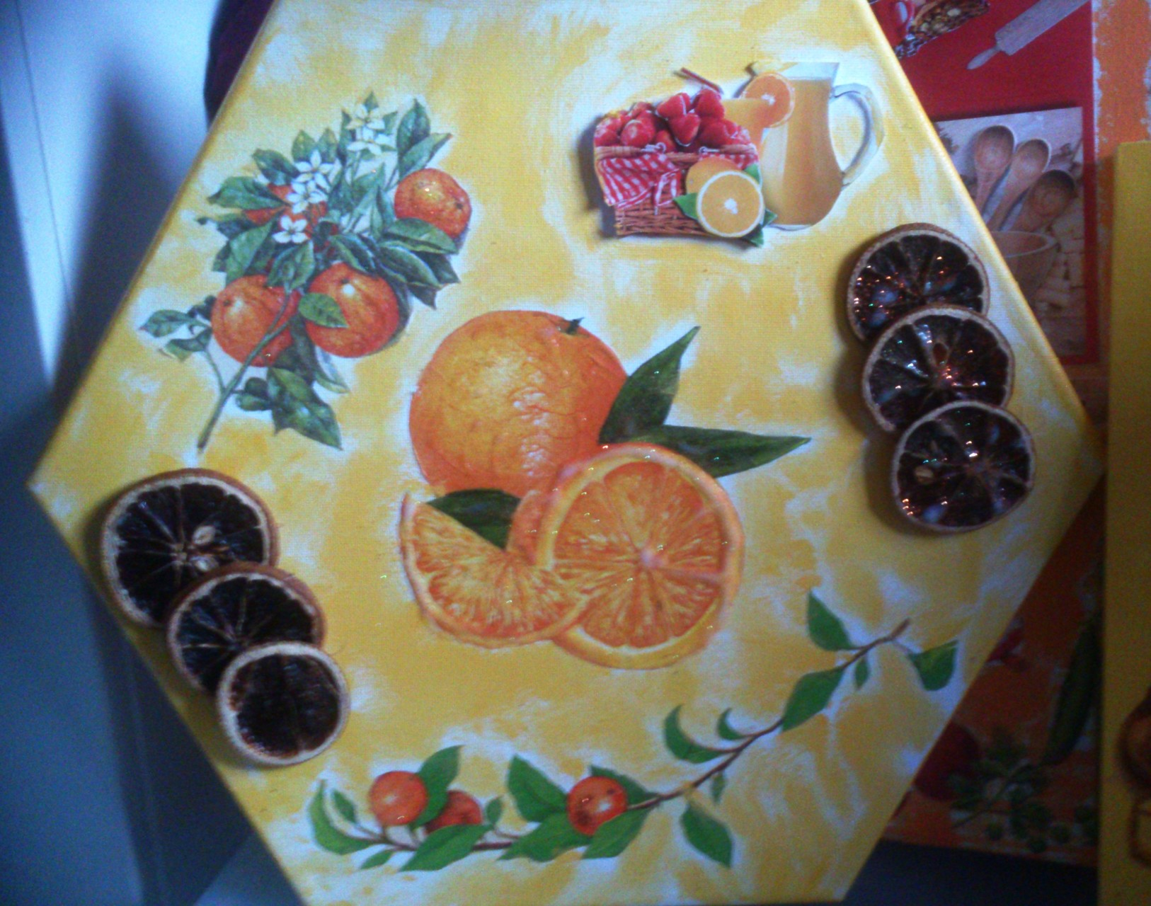 """Orangen"" - 8-eckig, ca. 40 cm, Art.-Nr. KOR042016"