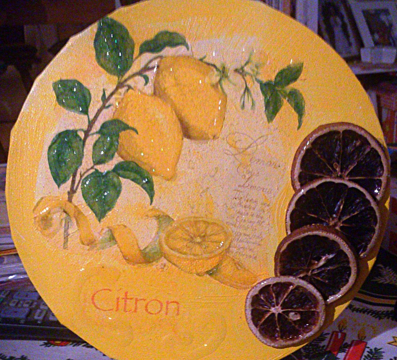 """""""Zitronen"""" - rund, 25 cm Durchm., Art.-Nr. KZI052016"""
