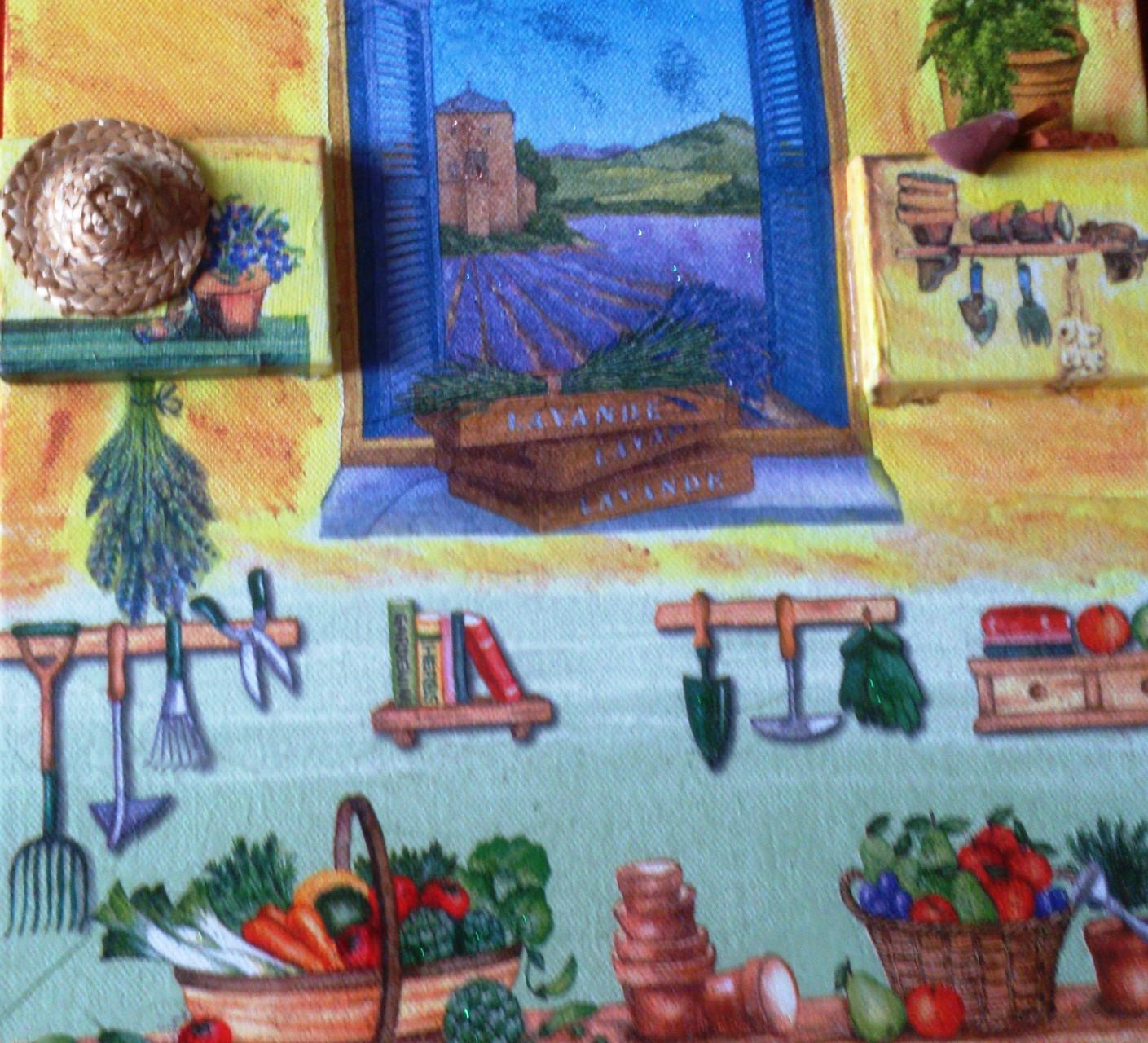 """Blick auf Lavendel"" - 30 x 30 cm, Art.-Nr. SBL022016"