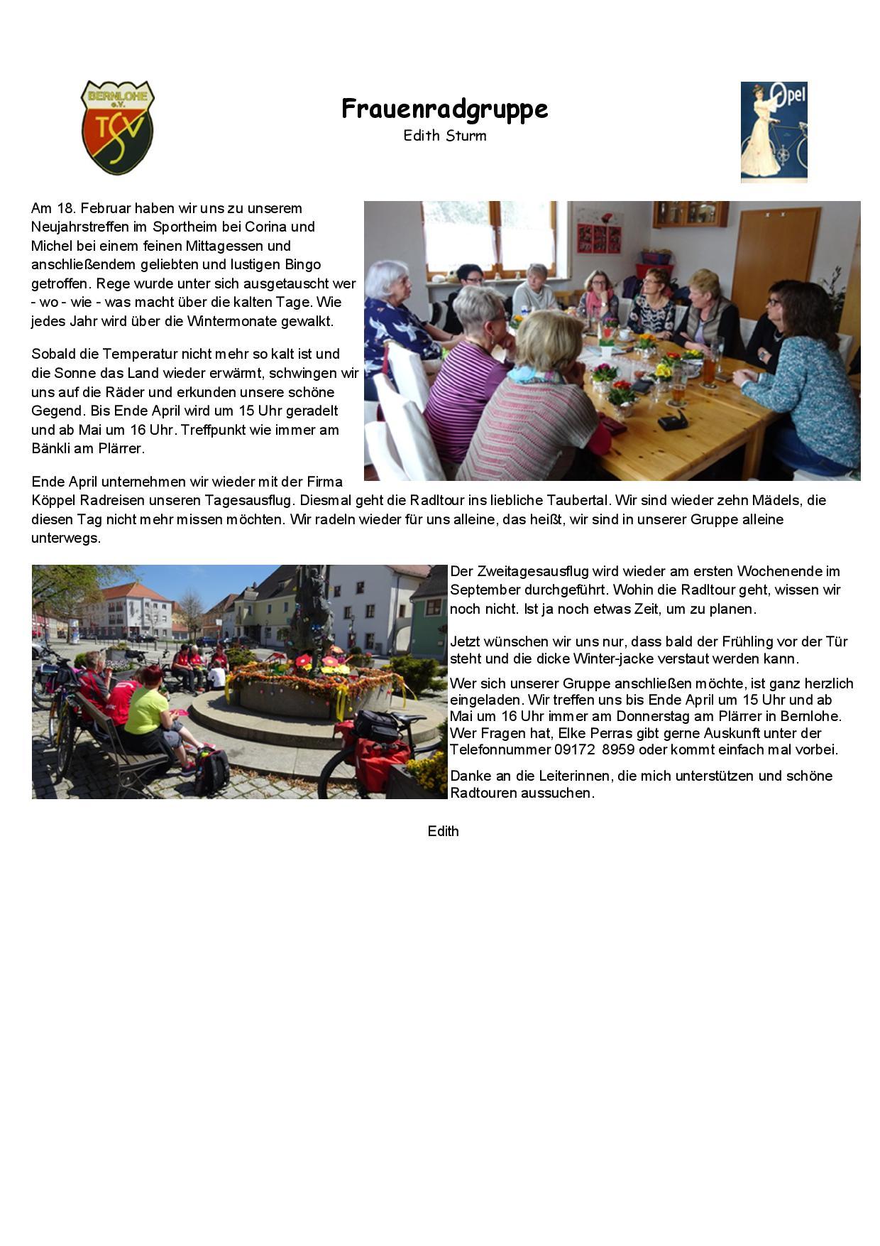 Jahresbericht Tsv Bernlohe