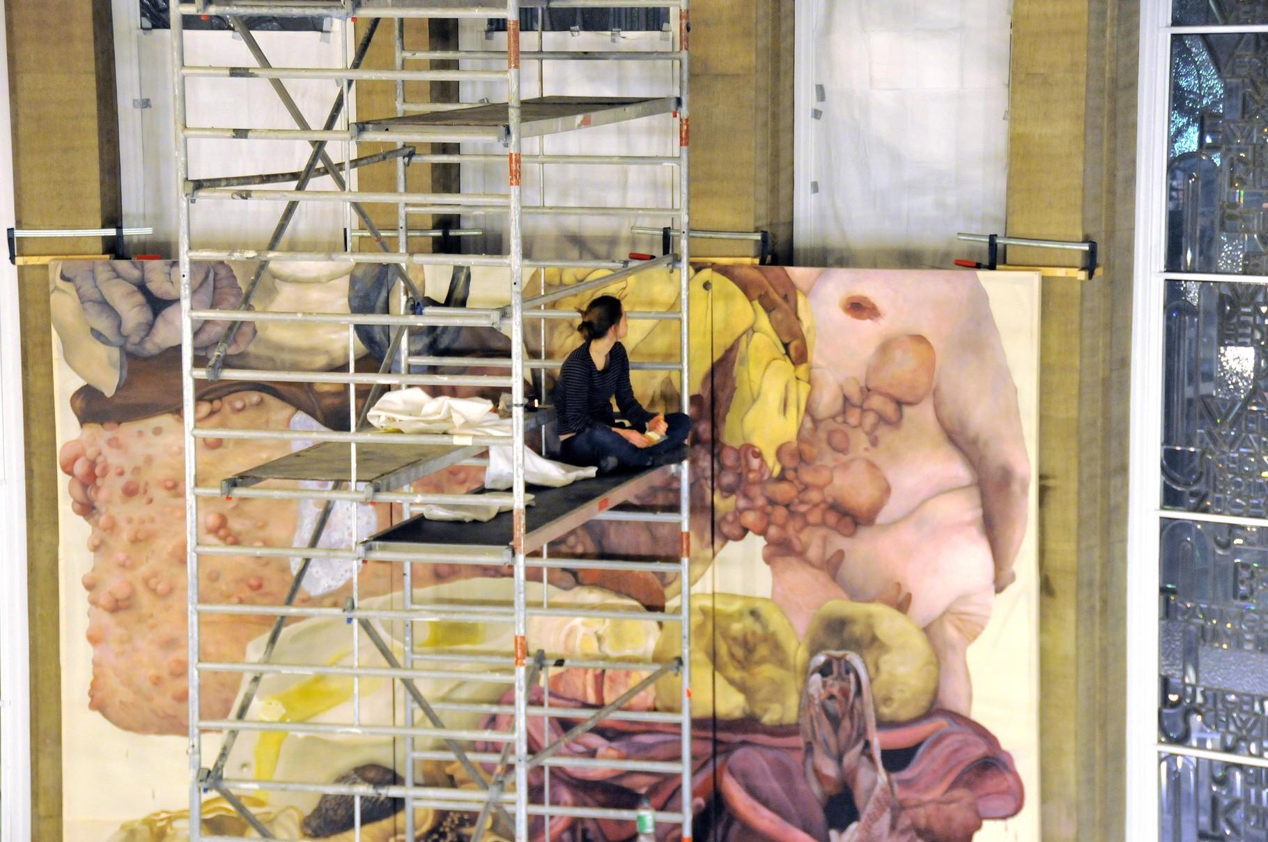 Lydia Balke und Laura Link: Der Bürger macht sich kein Bild - progress view - 2014