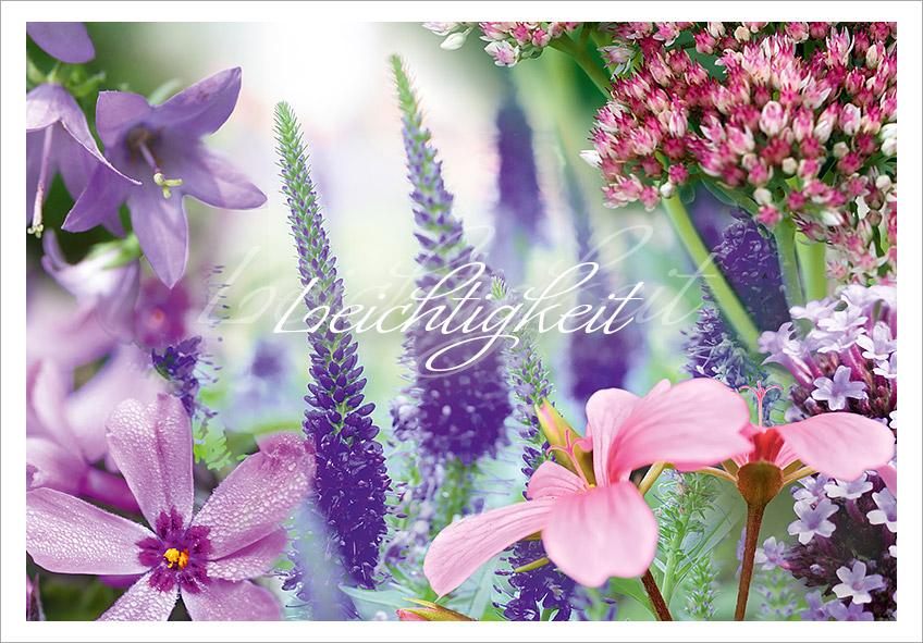 Gräber mit Blüten in zarten Pastelltönen für Sonne und Schmetterlinge die schweben