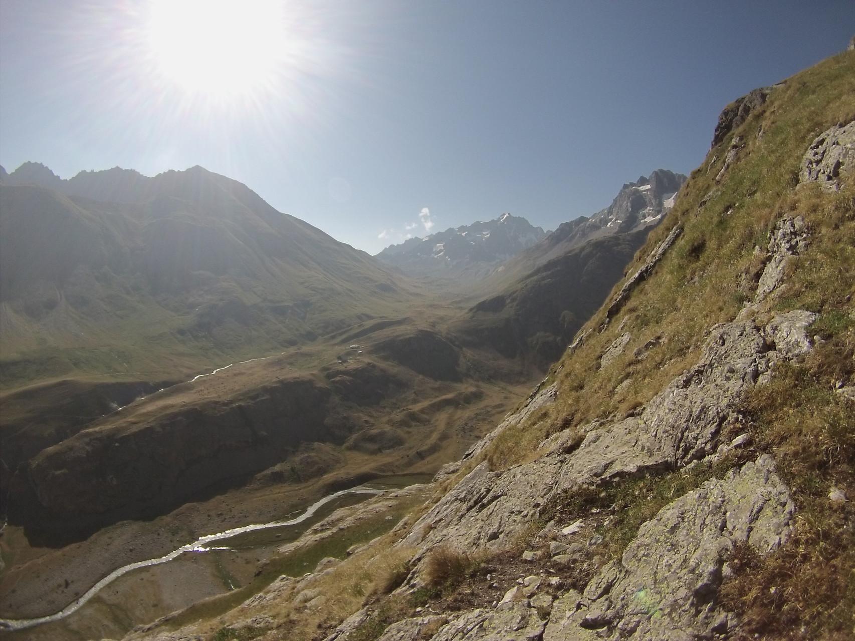 Notre alpage vue depuis les vires du Clot Boucharet!