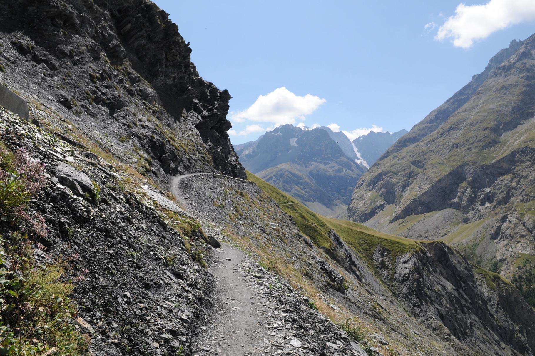 """Le passage """"clée"""" du sentier des Crevasses..."""