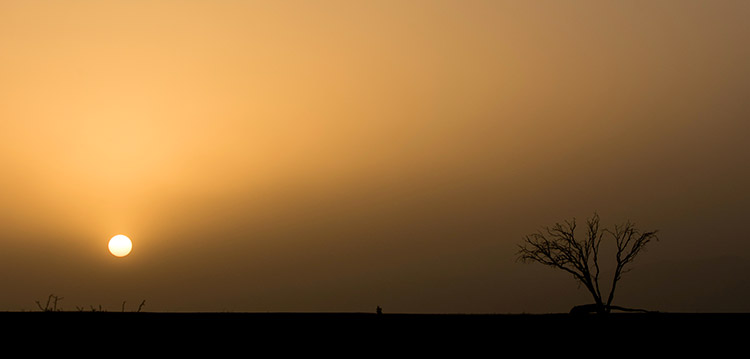 Sossusvlei - tempête de sable