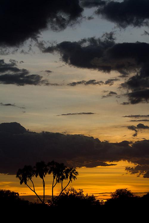 Samburu: coucher de soleil
