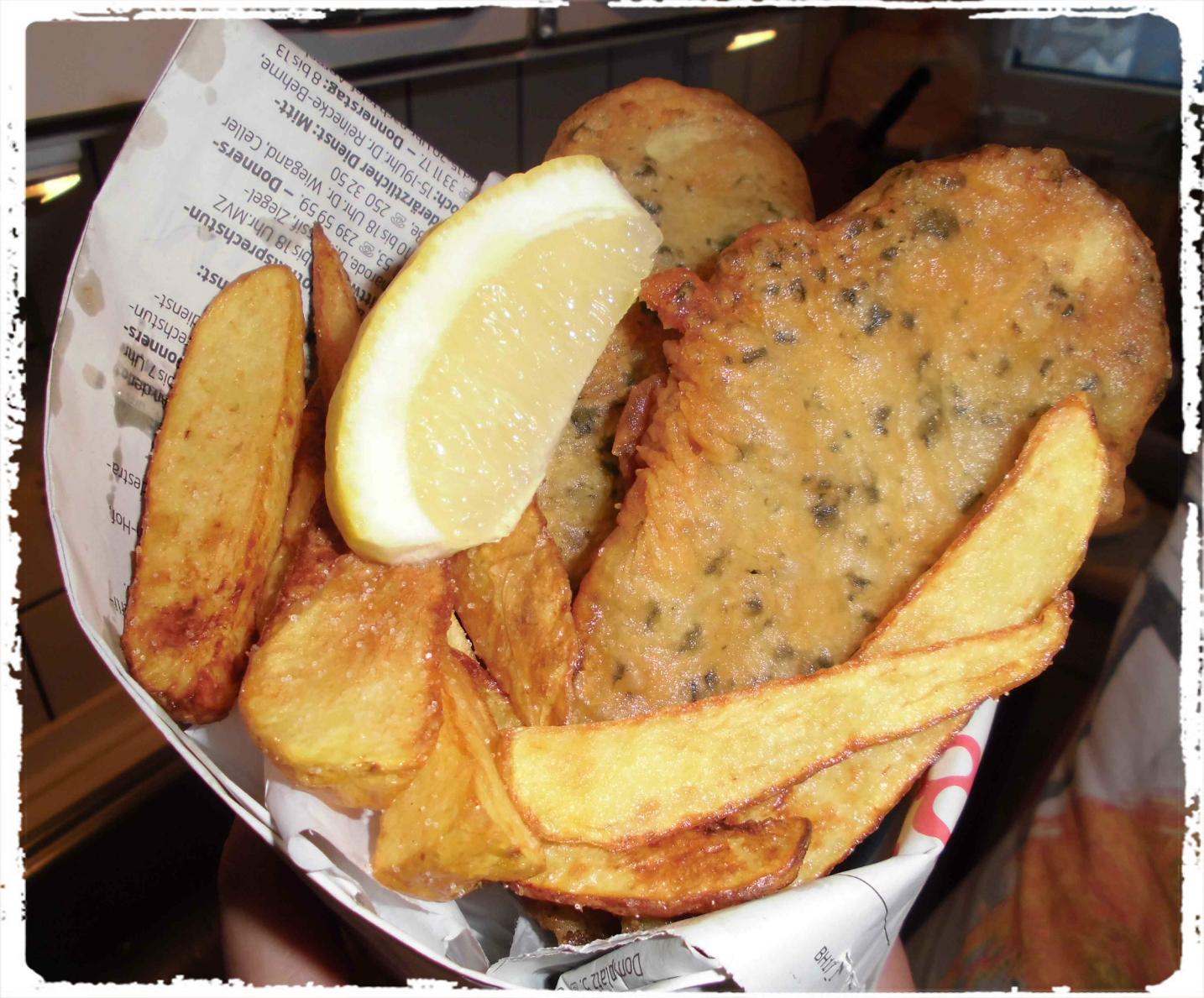 Veganer Fisch im Backteig