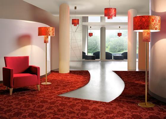 Lampen in Hotellobby