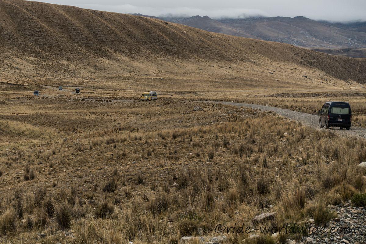 Minibusse auf dem Rückweg nach Huaraz
