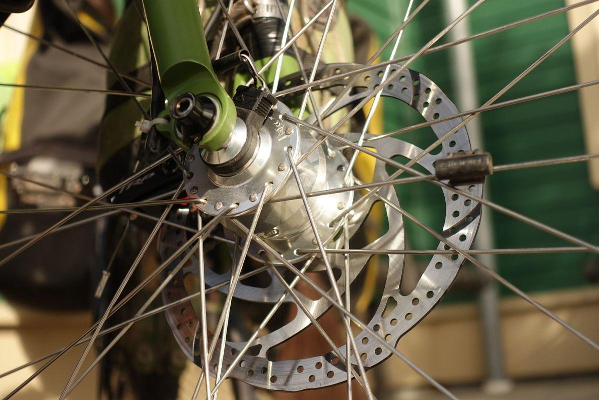 Umstellung der Räder auf Scheibenbremsen