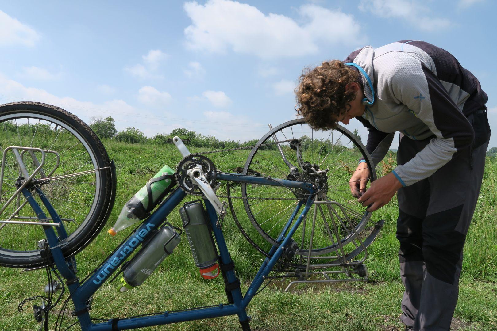 Speiche am Hinterrad bei Schlammschlacht gerissen