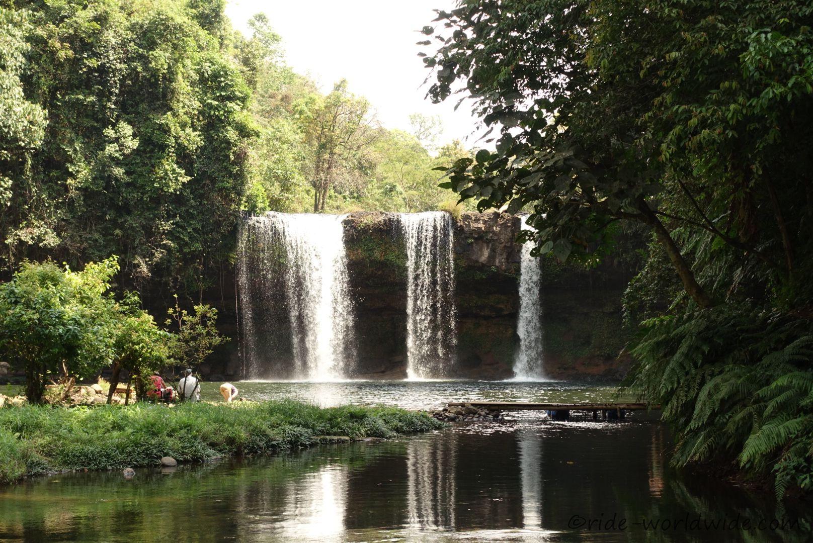Champee Wasserfall auf dem Bolavenplateau
