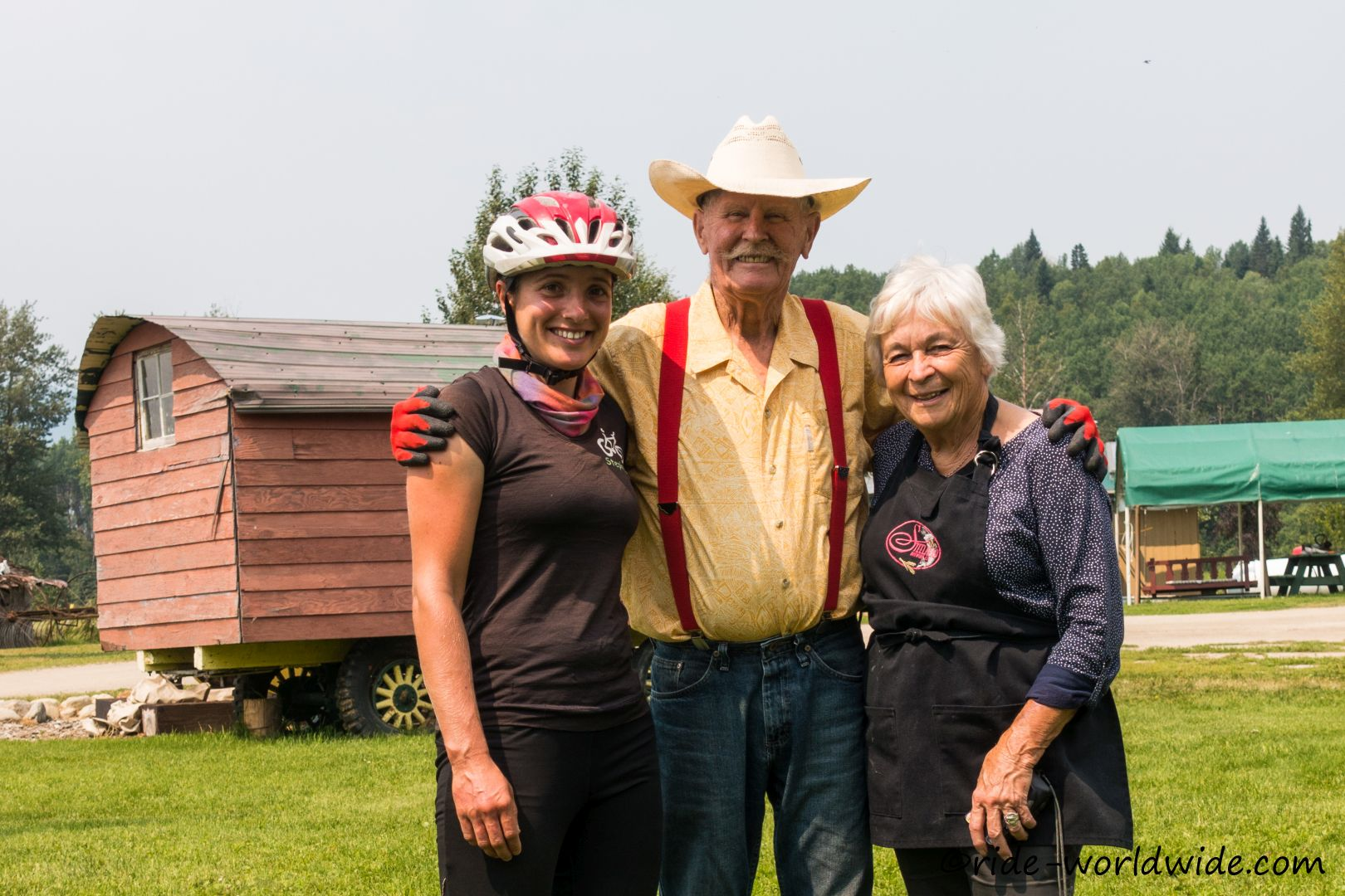 Mit Curtis und Bonita auf deren Farm
