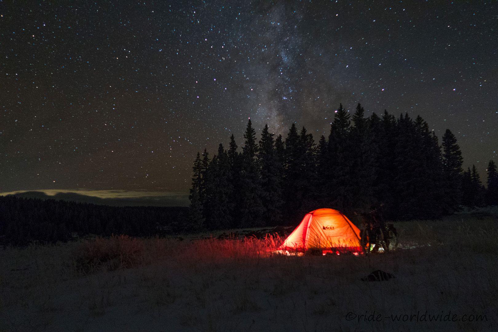 Kalte geniale Nacht auf Grand Mesa