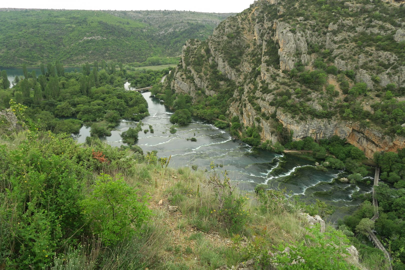 Kaskaden des Roški slap. Krka Nationalpark