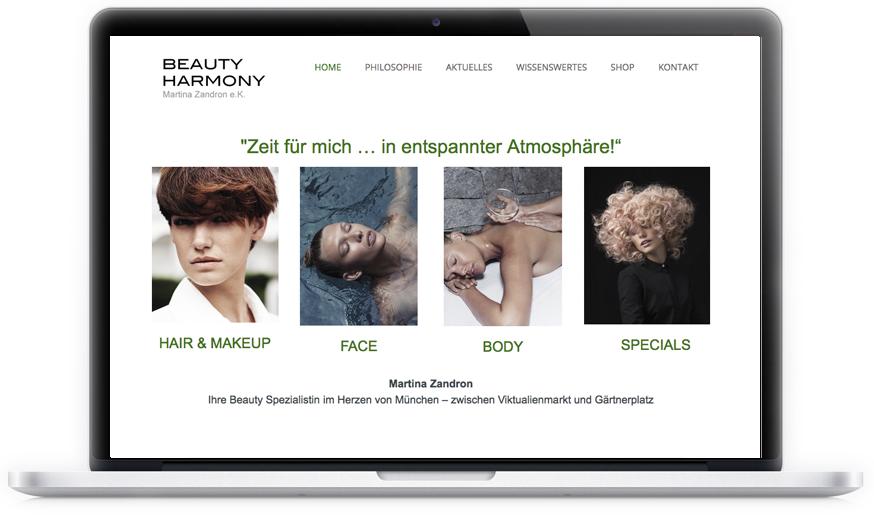 Der Friseur- und Kosmetikladen in der Münchner Innenstadt lies und lässt sich gerne von uns beraten. Ergebnis unter anderem: eine neue Webseite.