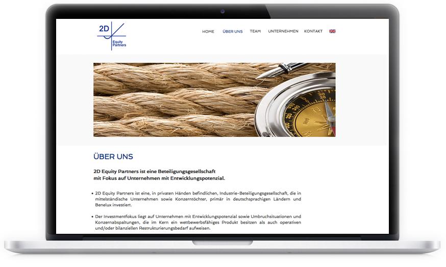 2D Equity Partners ist eine Firma mit Sitz in den Niederlanden. Branche: Beteiligungsgesellschaft - Webseite: zweisprachig / responsive