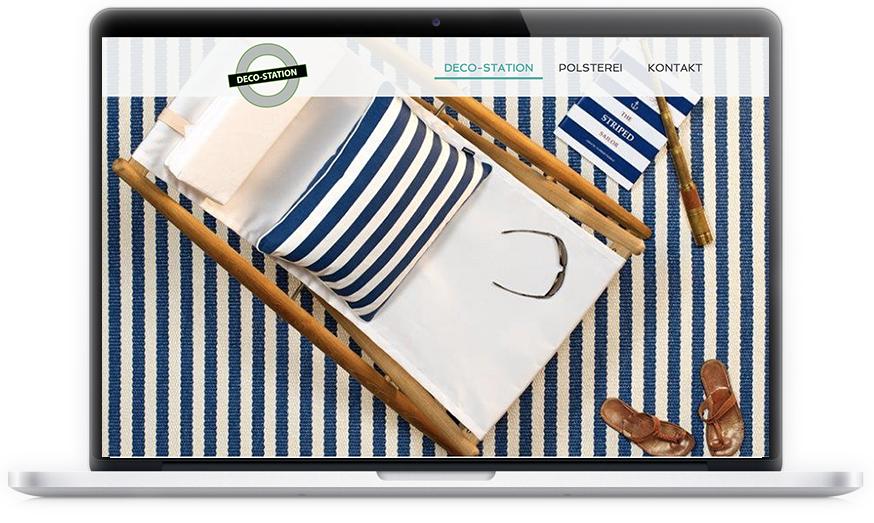 """Der hübsche Einrichtungsladen in München-Schwabing hat sich von unserer Internetagentur einen moderneren Webauftritt gewünscht. Der Relaunch der Webseite ist von uns mit dem Jimdodesign """"Miami"""" individuell angepasst und umgesetzt worden."""